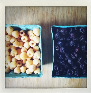 black and yellow raspberries